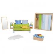 Miegamojo baldelių rinkinys lėlių namui