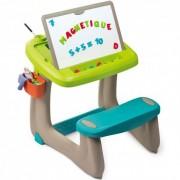 SMOBY piešimo staliukas su dvipuse piešimo lenta ir priedais