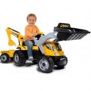 SMOBY minamas traktorius MAX su priekaba ir kaušais