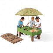 STEP2 sėmlio ir vandens stalas su skėčiu