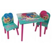 Staliukas su dviem kėdutėmis Shimmer & Shine