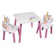 Staliukas su dviem kėdutėmis Vienaragis