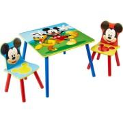 Worlds Apart staliukas su dviem kėdutėmis Mickey Mouse