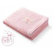 BABY ONO pledas megztas, bambukinis (rožinis)