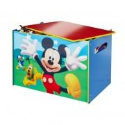 Medinė žaislų dėžė - suoliukas MICKEY MOUSE