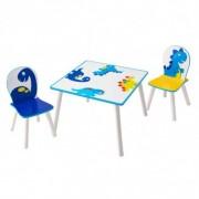 Staliukas su dviem kėdutėmis Dino