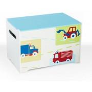 Medinė žaislų dėžė AUTO