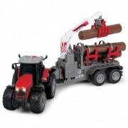 Miško priežiūros darbų traktorius su priekaba Massey Ferguson MF8737