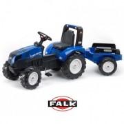 FALK didelis traktorius su priekaba New Holland 3-7m.