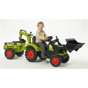 FALK traktorius Claas Arion su priekaba ir kaušu