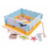 Vaikiškas mažojo žvejo rinkinys dėžutėje