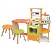 LELIN medinė virtuvėlė su valgomuoju