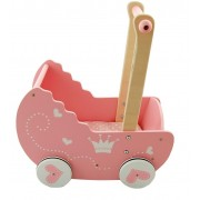 Medinis lėlių vežimėlis