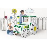 Kartoninis traktorius Tektorado