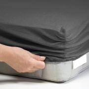 Paklodė su guma 80 x 160 cm. (tamsiai pilka)