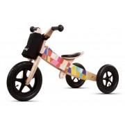 Medinis balansinis dviratukas-triraukas 2in1