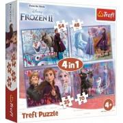 TREFL dėlionė Frozen II 4in1