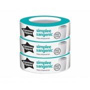 TOMMEE TIPPEE kasetė sauskelnių konteineriui 3vnt row Sangenic simplee