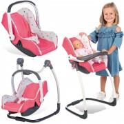 SMOBY lėlės nešioklė, kėdutė ir supynė Maxi Cosi