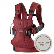 BABYBJORN nešioklė ONE AIR Burgundy Recycled Mesh 2018
