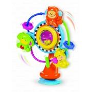 Prilimpantis žaisliukas ant maitinimo kėdutės