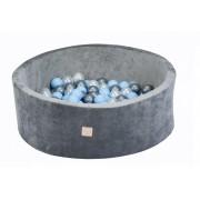 Kamuoliukų baseinas su kamuoliukais Velvet Grey 90 x 30 cm