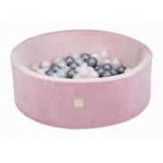 Kamuoliukų baseinas su kamuoliukais Velvet Pink 90 x 30 cm