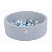 Kamuoliukų baseinas su kamuoliukais Smart Grey 90 x 30 cm