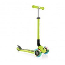 GLOBBER paspirtukas Primo Foldable Lights Lime Green 432-106