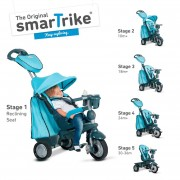 SMART TRIKE triratukas Explorer Touch Steering 5 in 1 Blue