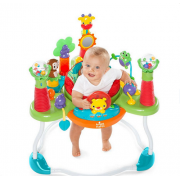 BRIGHT STARTS šokliukas/veiklos centriukas Having a Ball™ Explore & Roar Activity Jumper™