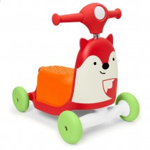 SKIP HOP stumdukas/paspirtukas Red Fox Ride-On 3in1