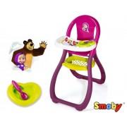 Lėlės maitinimo kėdutė Maša ir lokys