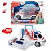 Žaislinė greitoji pagalbos mašina su medicinos įrankiais