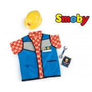 SMOBY mažojo statybininko liemenė, šalmas ir priedai