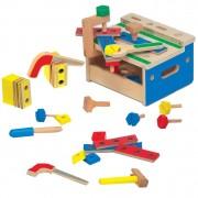 Medinis darbastalis su įrankiais vaikams