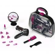 KLEIN Braun Satin Hair 7 mergaičių grožio rinkinys lagaminėlyje 13 el.