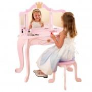 Medinis grožio stalelis su kėdute mažajai princesei KIDKRAFT