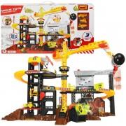 Vaikiškas kranas ir didelės statybos su priedais