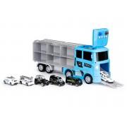Žaislinis tralas su 6 modeliukais priekaboje Policija