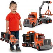 SMOBY sunkvežimis su kranu ir įrankių dėže su priedais