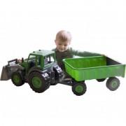 Gigantiškas buldozeris/traktorius su priekaba
