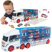 Autovežis su 10 mašinėlių rinkinyje Emergency Transporter