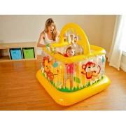 Pripučiamas kamuoliukų baseinas vaikų žaidimams namuose arba kieme