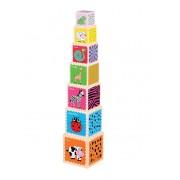 LELIN spalvotų kubelių bokštelis