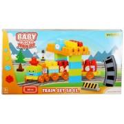 Vaikiškas traukinukas su bėgiais 58 el.