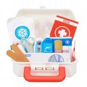 Mažojo daktaro pirmosios pagalbos rinkinys lagaminėlyje