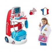 SMOBY medicinos vežimėlis su priedais ir garsais