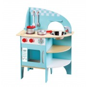 Medinė virtuvėlė Blue Kitchen CLASSIC WORLD