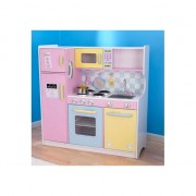 KIDKRAFT medinė virtuvėlė Large Pastel Kitchen